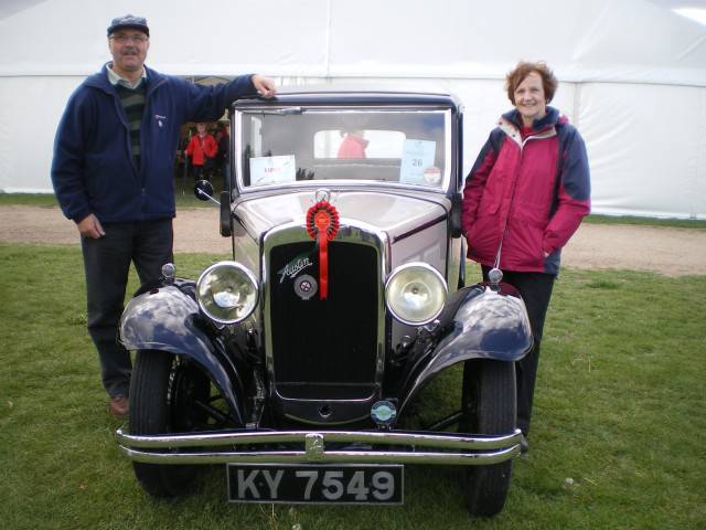 Paul and Christine Coupland in their prize winning Austin 10/4